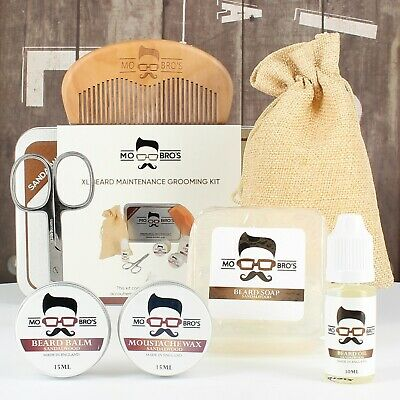 Beard Care XL Kit | Beard Oil, Balm, Wax, Soap, Scissors, Comb | Sandalwood