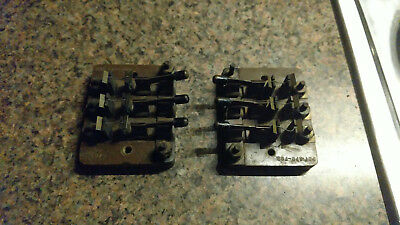 2 Vintage Electric Telephone Switchboard Switch telegraph Parts Antique