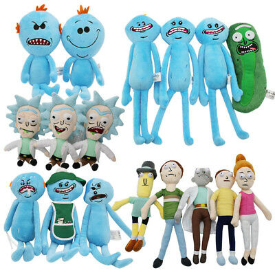 Rick and Morty Happy & Sad & Angry Mr. Meeseeks Plush Doll Figure Toys