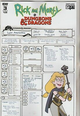 Idw Comics Rick & Morty Vs Dungeons And Dragons #3 December 2018 Variant B Nm