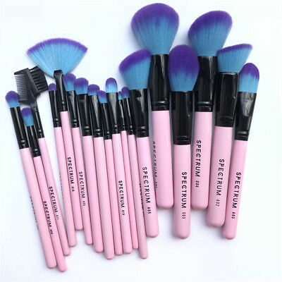 18Pcs Spectrum Powder Blusher Brushes Foundation Kabuki Makeup Brushes Set Kit