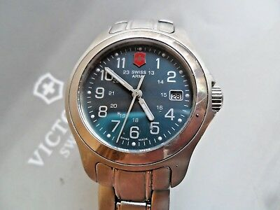 S/S Lady's Victorinox Swiss Army 24 Hour Quartz Watch 100 Meter Sapphire Crystal