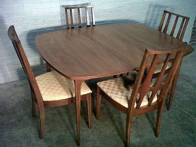 Broyhill Brasilia Rounded Square Dining Table ONLY  with 3 leaves