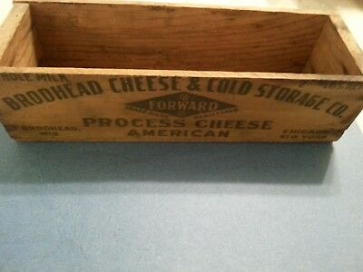 Brodhead Cheese wooden Box. Brodhead Cheese & Cold Storage Co.