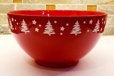 Unique NEW Waechtersbach Red and White Christmas Tree Serving Bowl