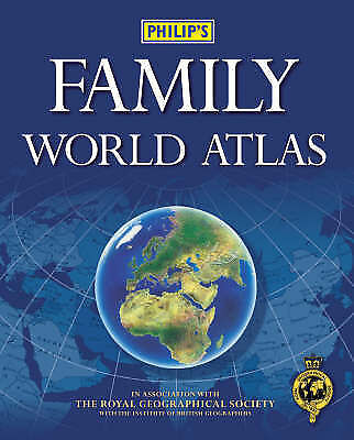 """""""AS NEW"""" Philip's Family World Atlas, No author stated, Book"""