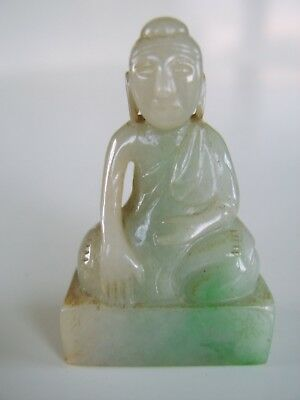 Very Fine Antique Carved Chinese Jade Seal Buddha Carved Top Quality Stunning