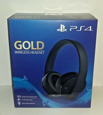 Cuffie Sony Gold Wireless Headset Black per PS4 NUOVE SIGILLATE