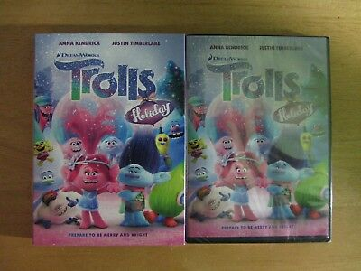 TROLLS HOLIDAY   (DVD, 2017)  BRAND NEW, Includes slipcover
