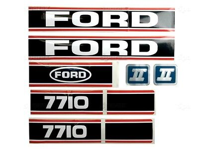 Bonnet Decal Set Fits Ford 7710 Tractors High Quality.
