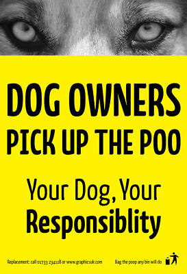 Dog Fouling / Dog Poo / Dog mess / Clean Up After Your Dog Warning Stickers