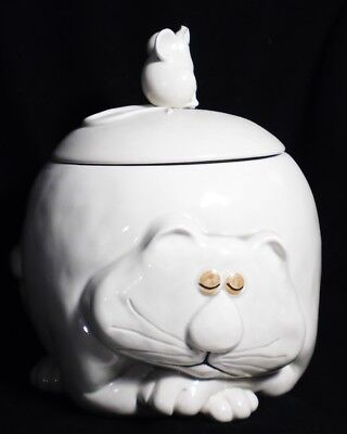 1977 Fitz & Floyd Fat Cat Cookie Jar never used