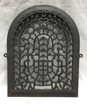 One Antique Arched Top Heat Grate Grill Stars Flowers Pattern Arch 11X14 635-18C