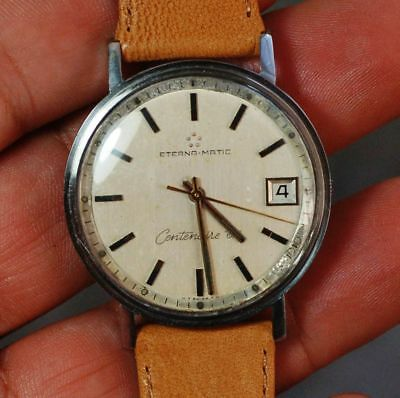 Vintage Swiss made watch ETERNA MATIC CENTENAIRE 61 working condition,serviced