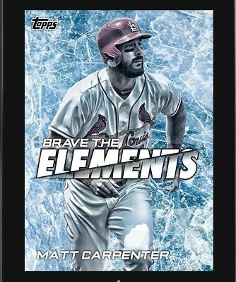 MATT CARPENTER BRAVE THE ELEMENTS CARDINALS Topps BUNT DIGITAL Card MARATHON #5