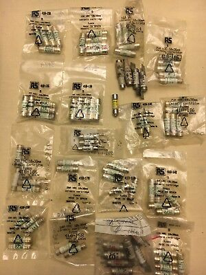 JobLot Of Cartridge Fuse As Seen In Pictures 70 Plus Fuses