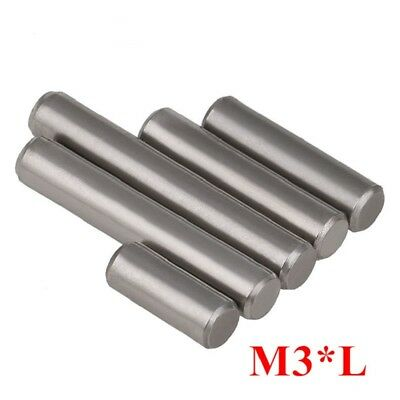 Chrome Steel Cylindrical Locating Pins Rod Solid Pin M3 3mm Dowel Pins Roller