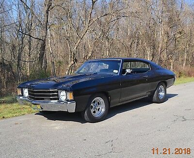 1972 Chevrolet Chevelle MALIBU 396 5SPD PS PDB 1972 CHEVELLE MALIBU 396 5SPD PS PDB SOLID ORIGINAL METAL BEAUTIFUL TUXEDO BLACK