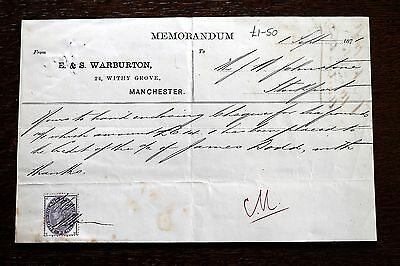 Memo from Warburton, Withy Grove, Manchester (Le2)