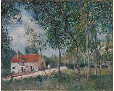 """18260997 10""""x8"""" (25x20cm) Print The Road from Moret to Saint-Mamm..."""