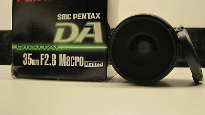 Pentax SMC PENTAX-DA 35mm F2.8 Macro Limited Used, in Excellent condition