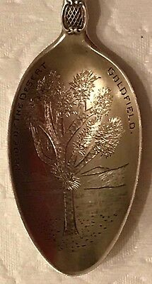 Sterling Silver Souvenir Spoon Goldfield Nevada C. 1910