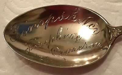 Tonopah Nevada Sterling Souvenir Spoon 1907 Owned by Josephine Cameron of Ely