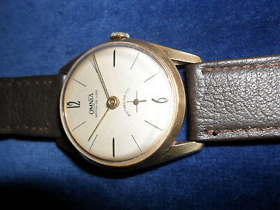 Vintage Omnia De-Luxe Watch, Swiss Made, Sub-Seconds Dial, Fully Working.