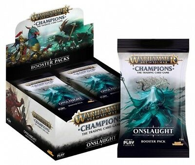 Warhammer Age of Sigmar Champions Onslaught Booster Box - IN HAND