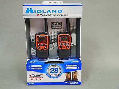 Midland - X-TALKER 28-Mile, 22-Channel FRS/GMRS 2-Way Radios (Pair)   NEW