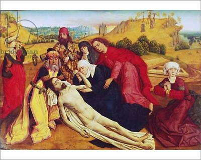 """18255055 10""""x8"""" (25x20cm) Print of The Deposition (oil on panel)"""