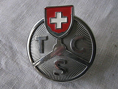 Vintage Swiss Car Club Grill Badge-Tcs