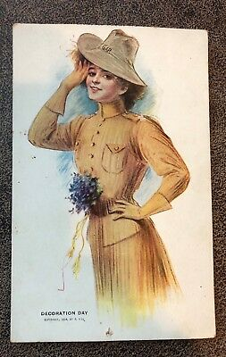 Daughters of GAR Grand Army of the Republic Memorial Day 1908 Commemorative Card