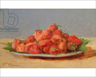 "18250177 10""x8"" (25x20cm) Print Still Life with Strawberries on a..."