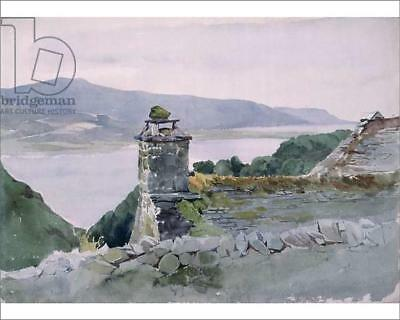 """18249721 10""""x8"""" (25x20cm) Print A hilly bay, seen from a wall ove..."""