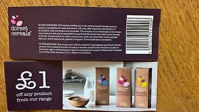20 Dorset Cereals £1 Supermarket Food Coupon Voucher Worth £20 Expires 31/12/18