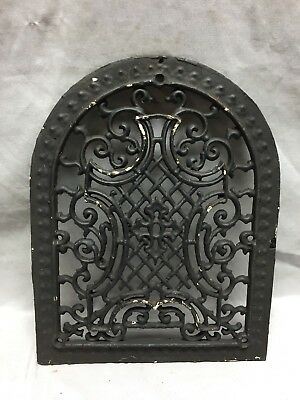 One Antique Arched Top Heat Grate Grill Maltese Cross Gothic Arch 11X14 641-18C