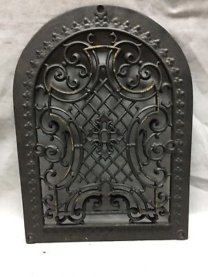 One Antique Arched Top Heat Grate Grill Maltese Cross Gothic Arch 10X14 642-18C