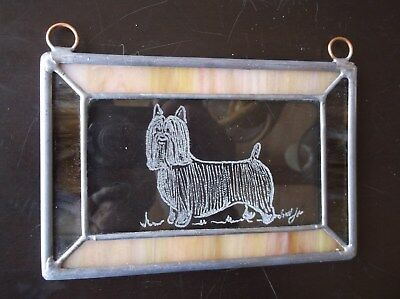 Silky Terrier- Beautifully Hand engraved Ornament by Ingrid Jonsson.