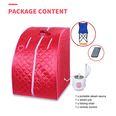2L Portable Steam Sauna Full Body Detox Loss Weight Slim Indoor Home Spa Therapy