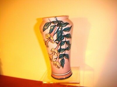 """Hand Thrown-Hand Painted 7"""" Pink Dragon- Flower Vase Made in Denver 1980 Excl"""