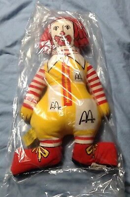 "Vintage Original Package 1970 McDonald's Ronald McDonald 13"" Stuffed Doll NEW"