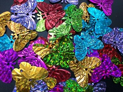 300pcs Sequins Shapes Scrapbooking Decoration Butterfly Kids Craft AU stock