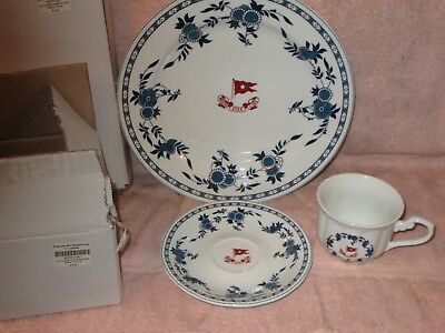 Titanic Authentic Reproduction 2nd Class White Star Line D - PLATE CUP & SAUCER