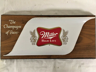 VINTAGE MILLER HIGH LIFE GENUINE DRAFT BEER BAR SIGN Antique