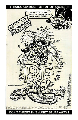 New Hot Rod Poster 11x17 Ed Big Daddy Roth Rat Fink Connect the Dots