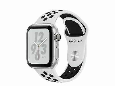 Apple Watch Series 4 Nike+, 40 mm, Alu. silber, Sportarmb. platin/blk