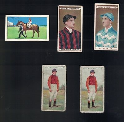 Lot Of 5 Assorted Vintage Jockies Cards  Inc 4 Different From Various Sets