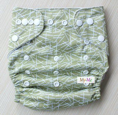 Baby Boy Girl Cloth Diaper One Size Adjustable Hip Snaps Nappy Pocket Cover H69