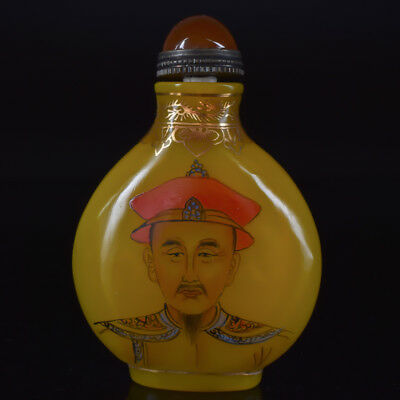 Chinese Beeswax Hand Carved Emperor Snuff Bottles W.QianLong Mark GLAFM0365